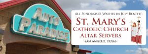 Fundraiser of the Month - St. Mary's Catholic Church - July 2016