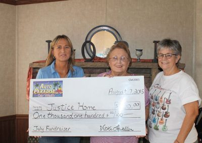 July 2015 Fundraiser - Justice Home