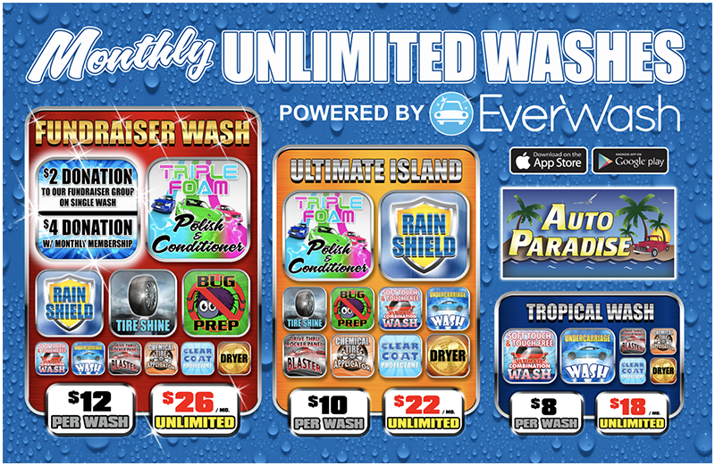 Monthly Unlimited Washes - Powered by EverWash